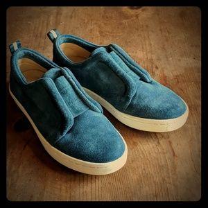 Splendid Blue Suede Sneakers 6